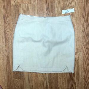 J. Crew NWT❗️Shirt Tail Wool Mini Skirt